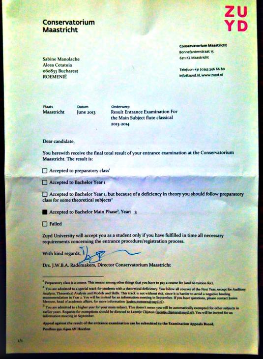 olanda scrisoare